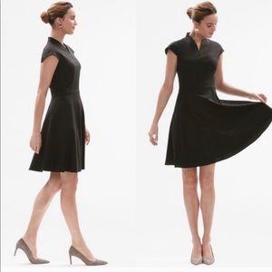 MM. LaFleur Black Ruth V-Neck Dress